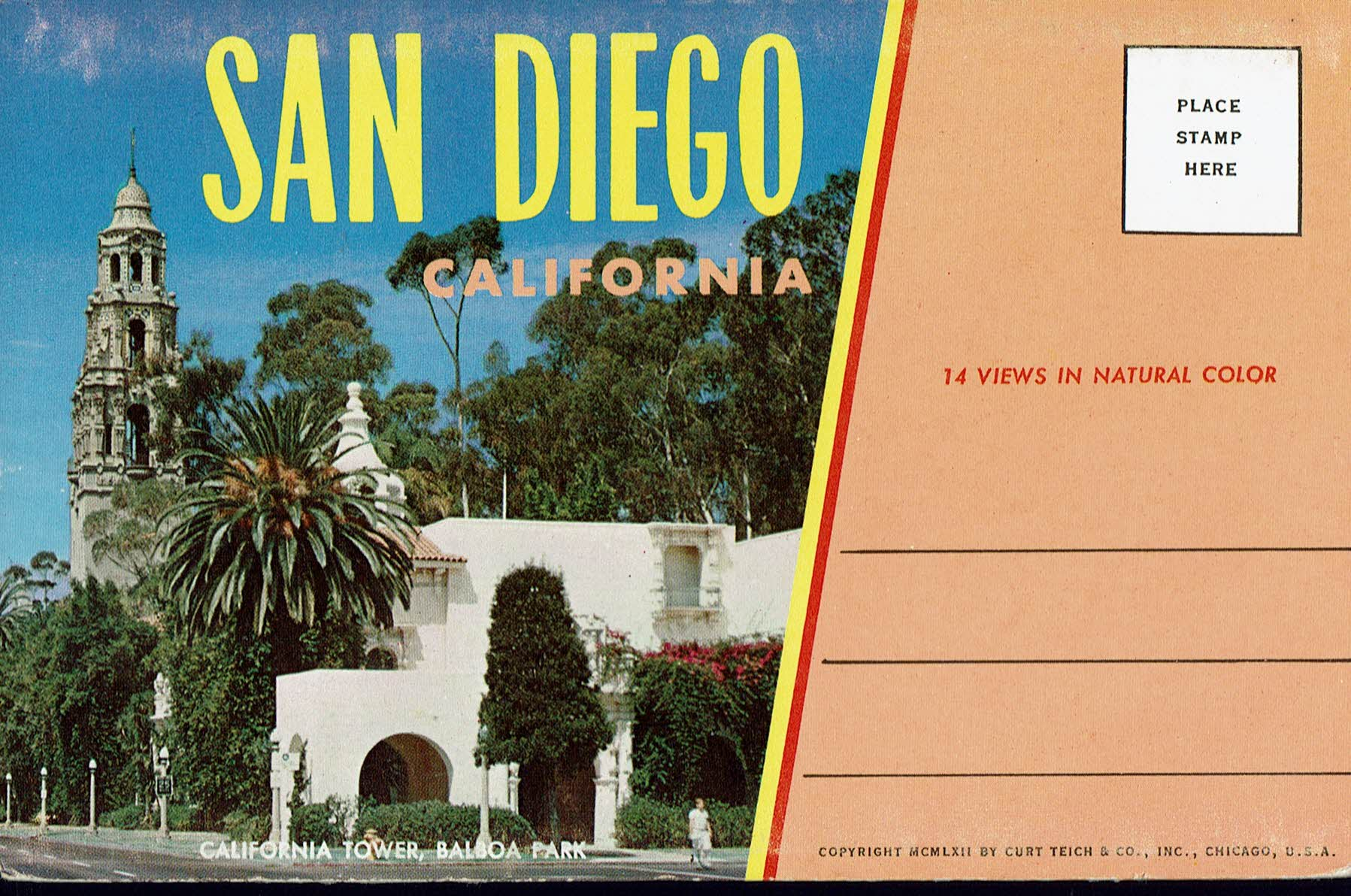 Image for San Diego California:  Vintage Postcard Book
