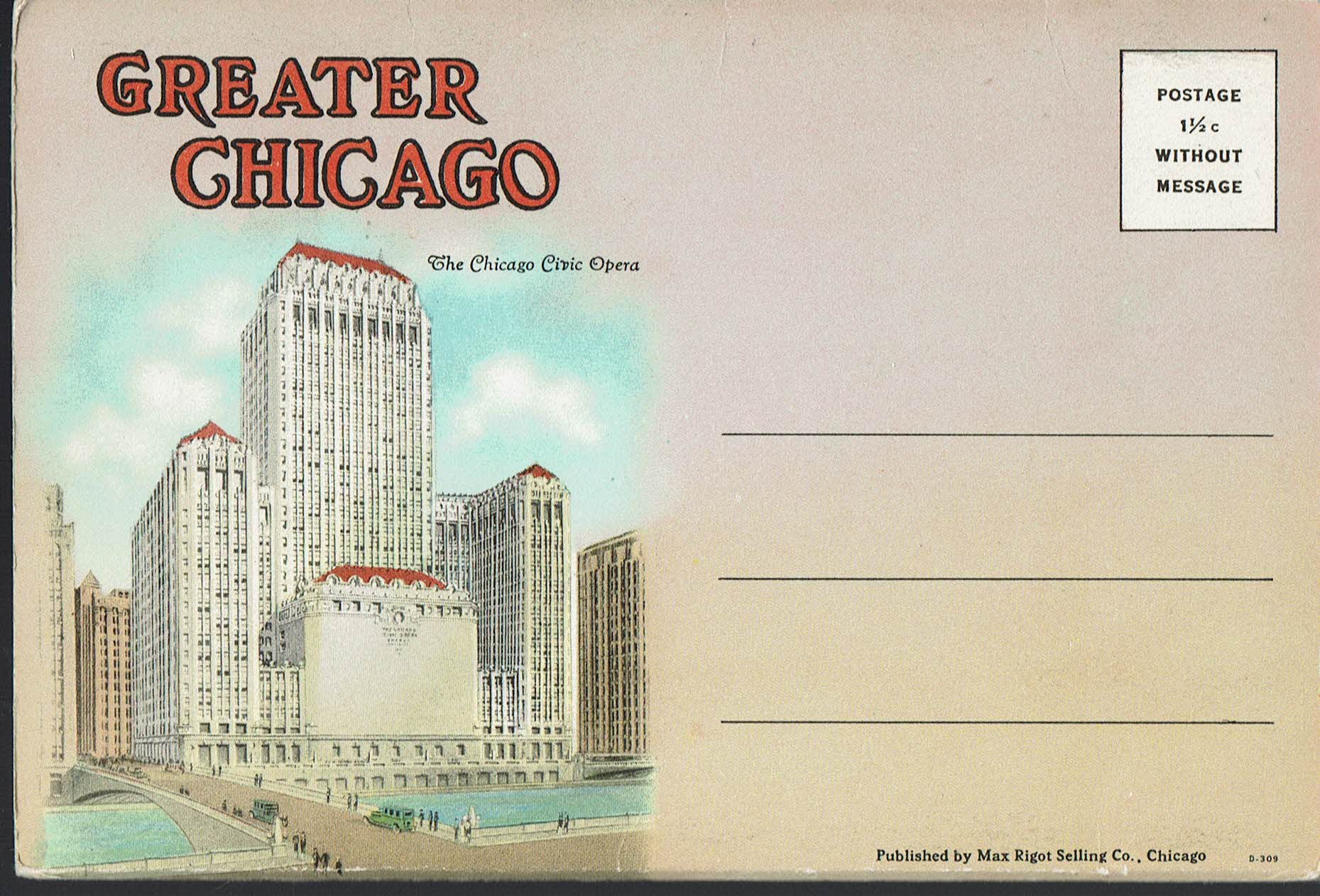 Image for Greater Chicago:  Vintage Postcard Book (circa 1925)